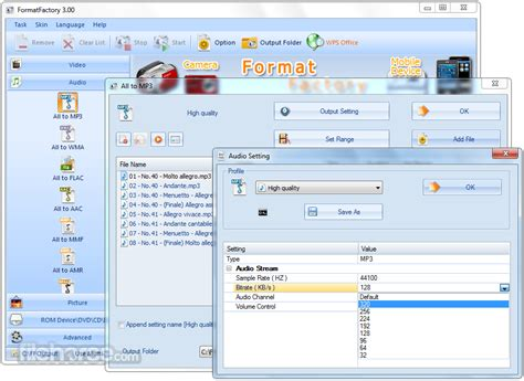 format factory converter setup free download format factory 3 00 full multifunctional media converter
