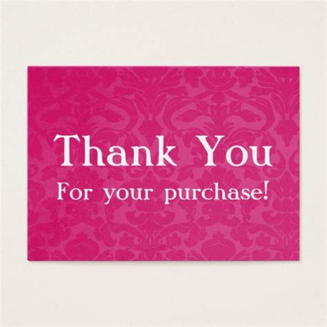 thank you for purchasing our product template pink vintage thank you for your purchase cards zazzle