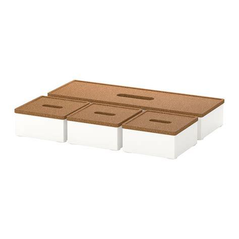 Ikea Desk Accessories Kvissle Box With Lid Set Of 4 Ikea