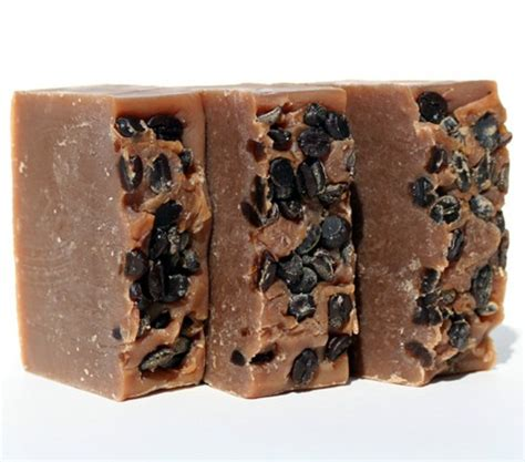 Caffeinated Shower Soap Perks You Up 2 by Coffee Beans Absolute Caffeine Handmade Soap Cold
