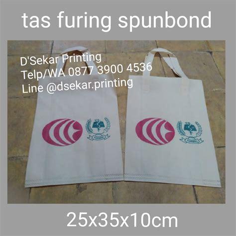 Toko Kain Spunbond Jogja jasa cetak tas kain furing spunbond murah pusat cetak