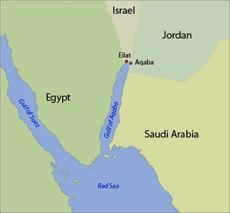 middle east map gulf of aqaba stanford israeli jordanian scientists team to study gulf