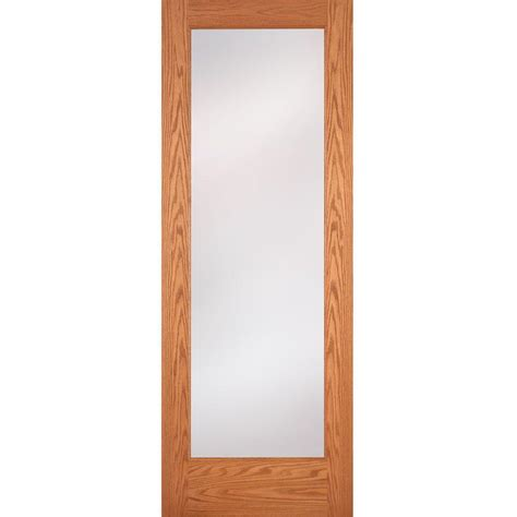 home depot interior glass doors feather river doors 36 in x 80 in 1 lite unfinished oak privacy woodgrain interior door slab