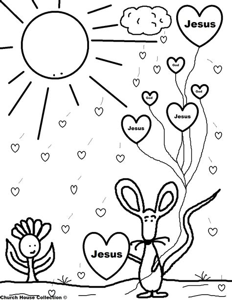 jesus valentine coloring page church house collection blog valentine mouse holding