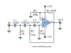 high pass filter arduino lm741 active high pass filter circuit electronic circuits schematics diagram free