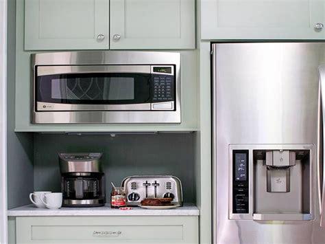 kitchen microwave ideas bhg kitchens microwave nook built in breakfast kitchen ideas