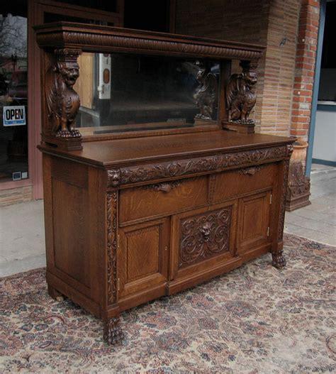 Rj Cabinets by Rj Horner Winged Griffin Oak Sideboard