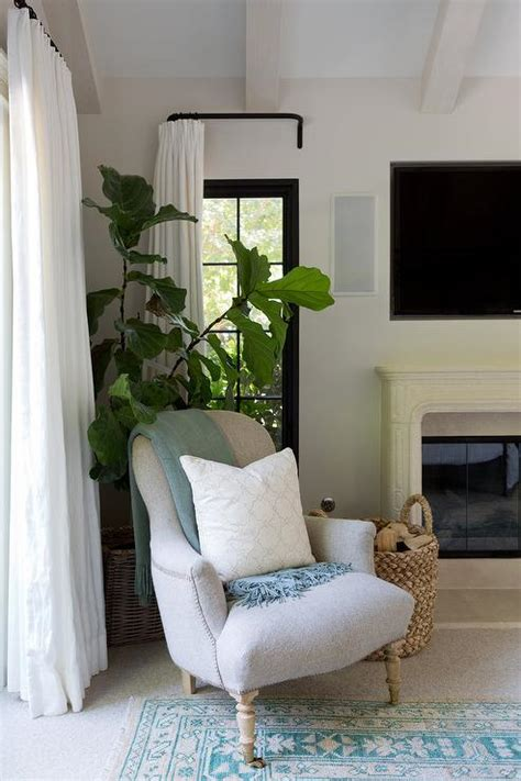 corner bedroom chair   fireplace transitional