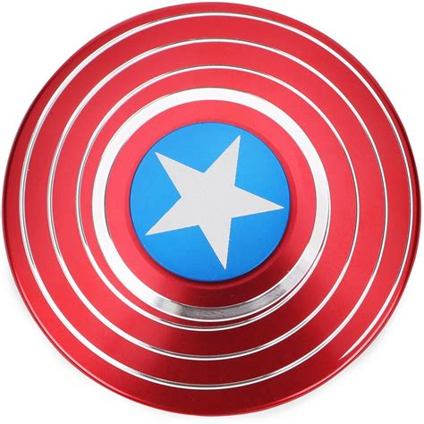Captain America Fidget Spinner Metal Kapten Amerika my baby excels captain america fidget spinner metal captain america fidget spinner metal