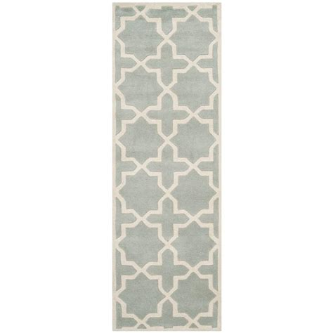 Pantofel Grey Ivory 2 safavieh chatham grey ivory 2 ft 3 in x 11 ft runner cht732e 211 the home depot