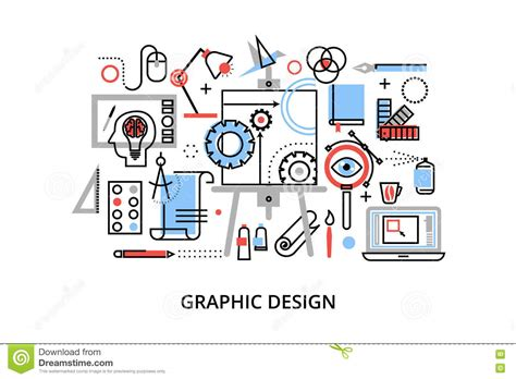 design concept graphic modern flat thin line design vector illustration