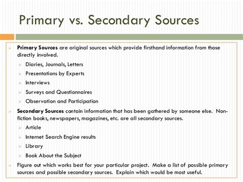 how to write sources for research paper research paper secondary sources