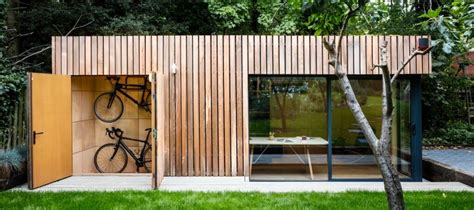 garden office with bike shed green studios