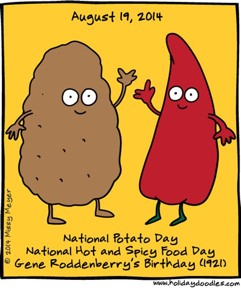 Happy And Spicy Day by Doodles 187 August 19 2014 National Potato Day
