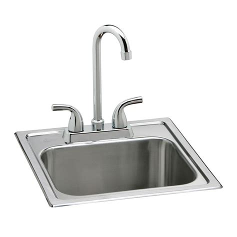 bar sink faucet home depot elkay all in one drop in stainless steel 15 in 2 hole