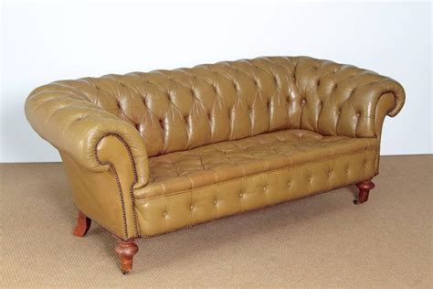 Green Chesterfield Sofa For Sale Chesterfield Sofa In Olive Green Leather For Sale At 1stdibs