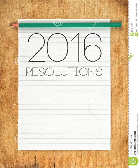 My Resolution For 2016 Essay by 2016 New Year Resolutions Concept Stock Photo Image 58324243