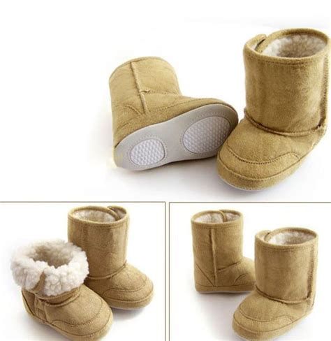 Walker Shoes Baby Wang Merry Brown newborn baby winter warm snow boots infant boy crib