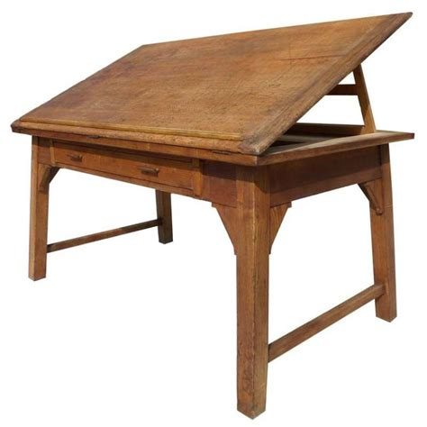 Drafting Table And Desk 19th Century Chestnut Map Or Drafting Table At 1stdibs