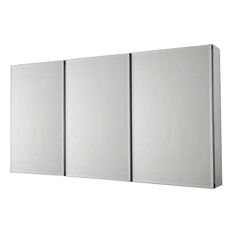 Pegasus Bathroom Mirrors Pegasus 36 In X 31 In Recessed Or Surface Mount Tri View