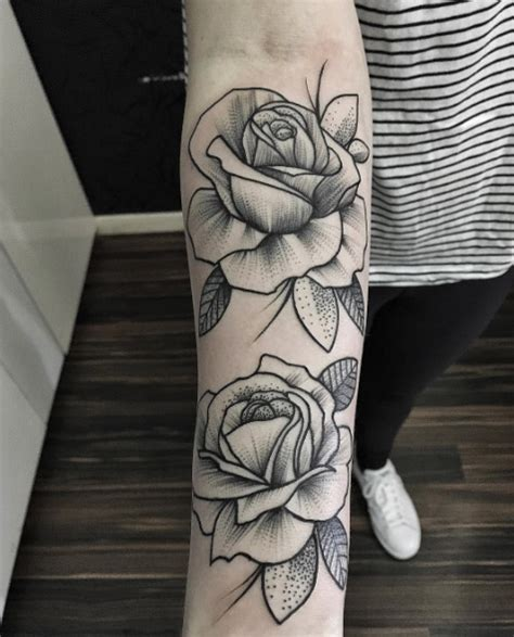 rose dotwork tattoo 40 blackwork tattoos you ll instantly tattooblend