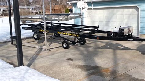 boat lifts for sale uk bryant boat lift trailer youtube