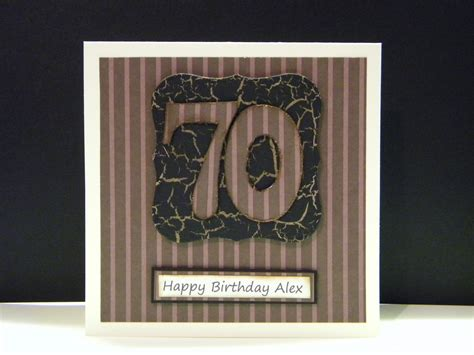 Mens Handmade Cards - men s 70th birthday cards the handmade card
