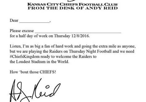 Excuse Letter Check Up busted coverage on quot arrowhead stadium opening
