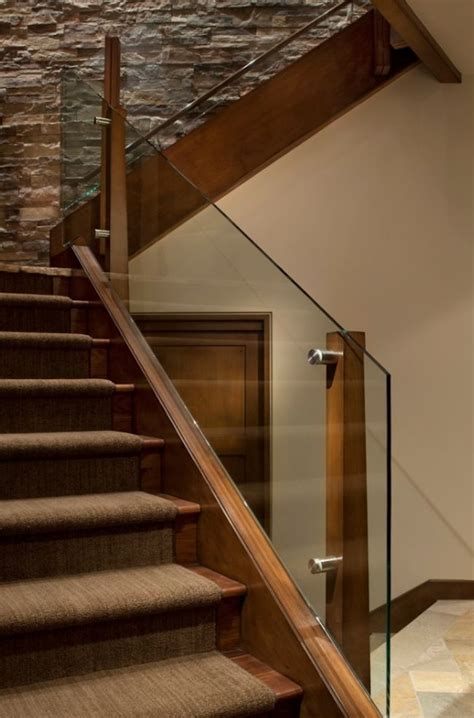 Wood And Glass Banister by 25 Best Ideas About Wood Railing On Banisters