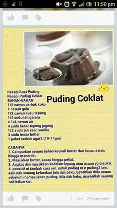 1 Loyang Puding Coklat apam gula hangus credit pic and recipe cotek airtangan cotek recipes