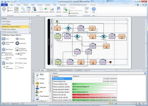 visio bpm bpmn template in visio 2010