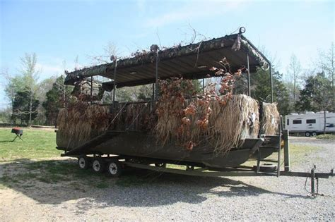 used duck hunting boats for sale in michigan pontoon duck blind photos