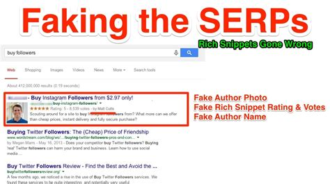 A Snippet by Faking The Serps Rich Snippet Hacks Penalties