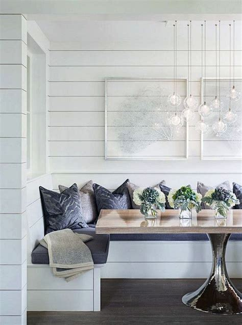 shiplap nook breakfast nook with shiplap dining rooms pinterest