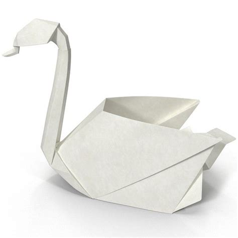3d Origami Models - 3ds origami swan origami swan by 3d molier origami