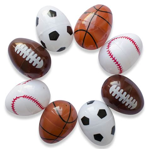 sports easter eggs set of 8 assorted sport plastic easter eggs soccer