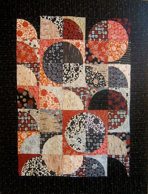 Black Patchwork Quilt - patchwork quilt black and japanese drunkard s path
