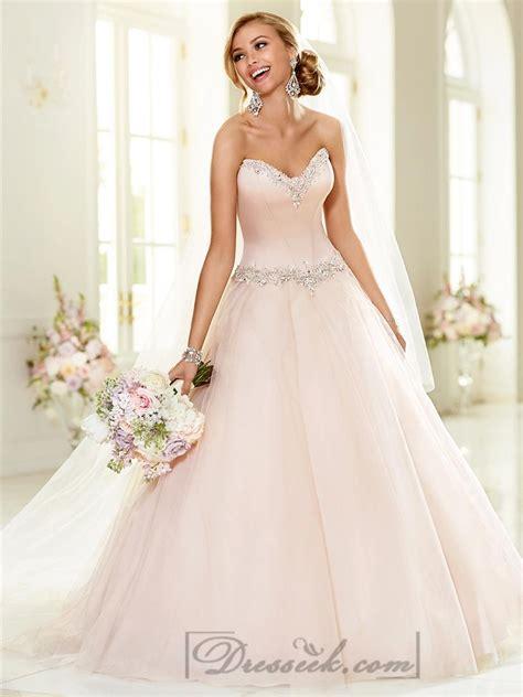 elegant beaded sweetheart neckline ball gown wedding