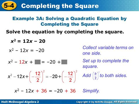 Solve By Completing The Square Worksheet by Algebra 2 Quadratic Equations Answers Tessshebaylo