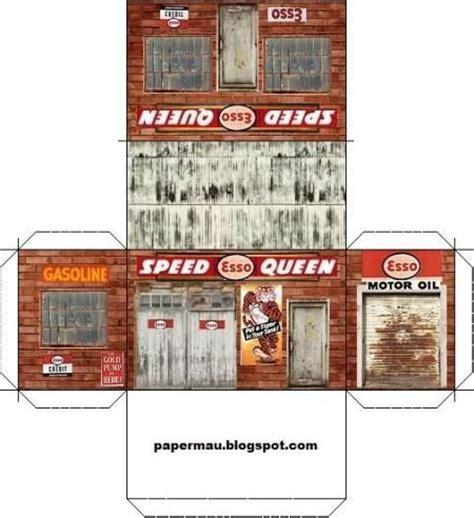 printable garage diorama 249 best images about mini printables on pinterest model
