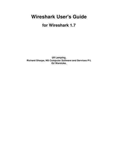 wireshark tutorial slideshare wireshark user s guide