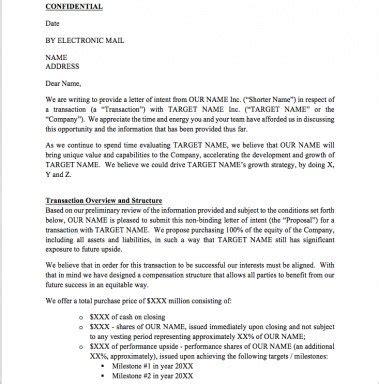 letter intent loi word template eloquens