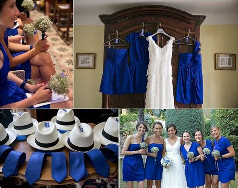 Robe de marriage blanc et bleu chanel