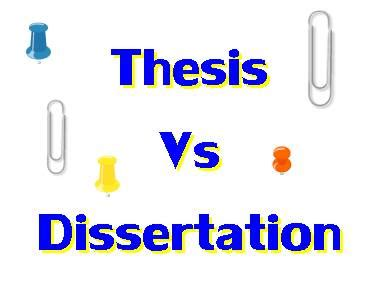 thesis vs dissertation thesis notes guidelines for your thesis writing