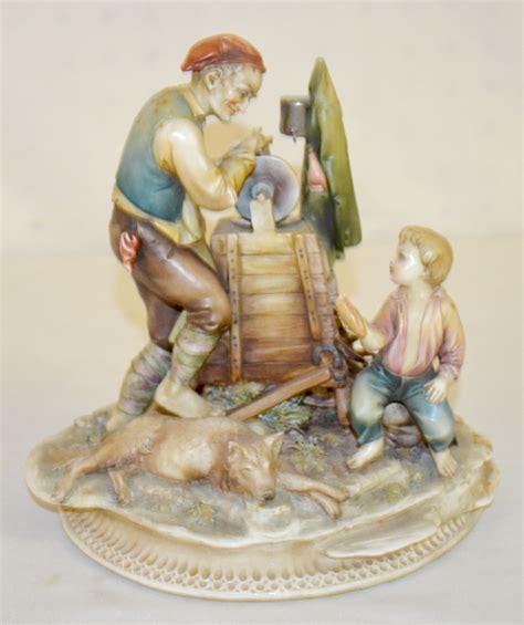 porcelain sharpening borsato italian porcelain figurine sharpening a knife w