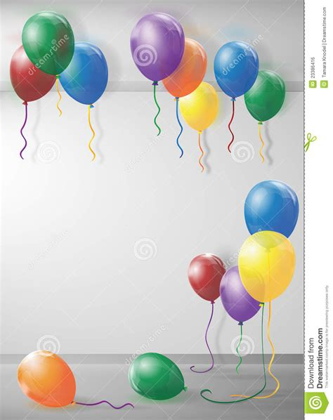 room filled with balloons room filled with balloons stock vector image of birthday 23386416