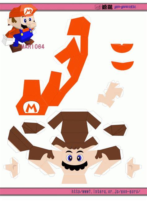 Mario Paper Craft - mario papercraft mario origami