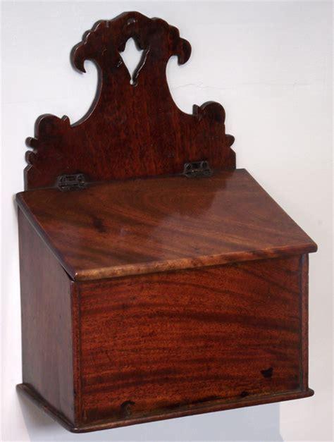 Georgian mahogany salt box : Misc Antique Items   Antique