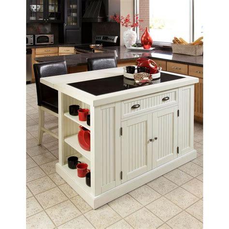 home styles nantucket white kitchen island  granite