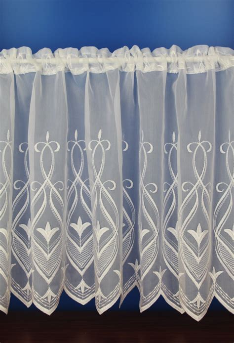 voile cafe net curtains olivia white embroidered voile cafe net curtains